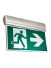 LED Edgelit Running Man Sign - Universal Mounting - White Pictogram Legends - 120/347VAC Input - Self-Powered for 90 Minutes